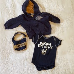 Brewers Rookie set - infant to toddler